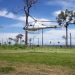 Helicóptero do Ibama atua no defeso da lagosta no litoral da Paraíba