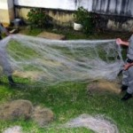 Rio Pardinho – BM apreende material de pesca predatória