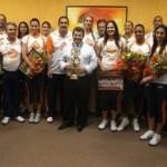 Osasco – Prefeito Emidio recebe time campeão da Superliga Feminina de Vôlei