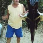 Jaú de 70 Kg capturado no Rio das Mortes