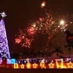Prefeito Emidio e primeira-dama Marcia Abreu inauguram a iluminação de Natal de Osasco