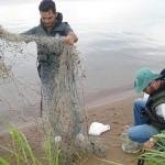 Fiscalização do Naturatins apreende redes de pesca