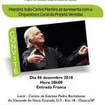Maestro João Carlos Martins fará apresentação em Osasco