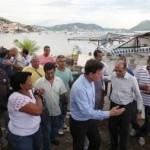 Ministro vai a Jurujuba conhecer de perto projeto de maricultura premiado pela ON
